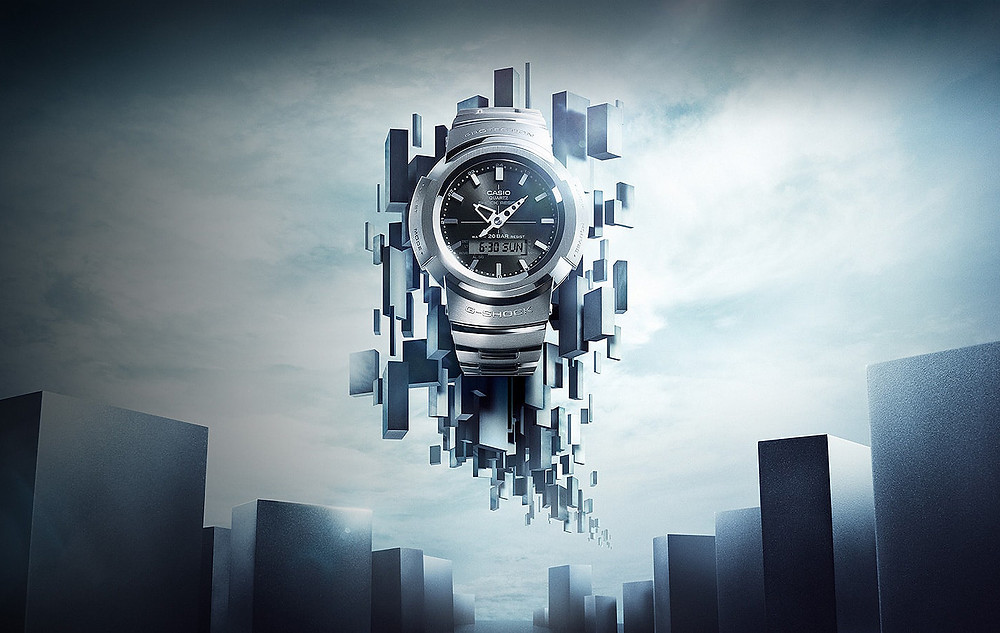 imagen promocional reloj Casio G-Shock Full metal serie AWM500