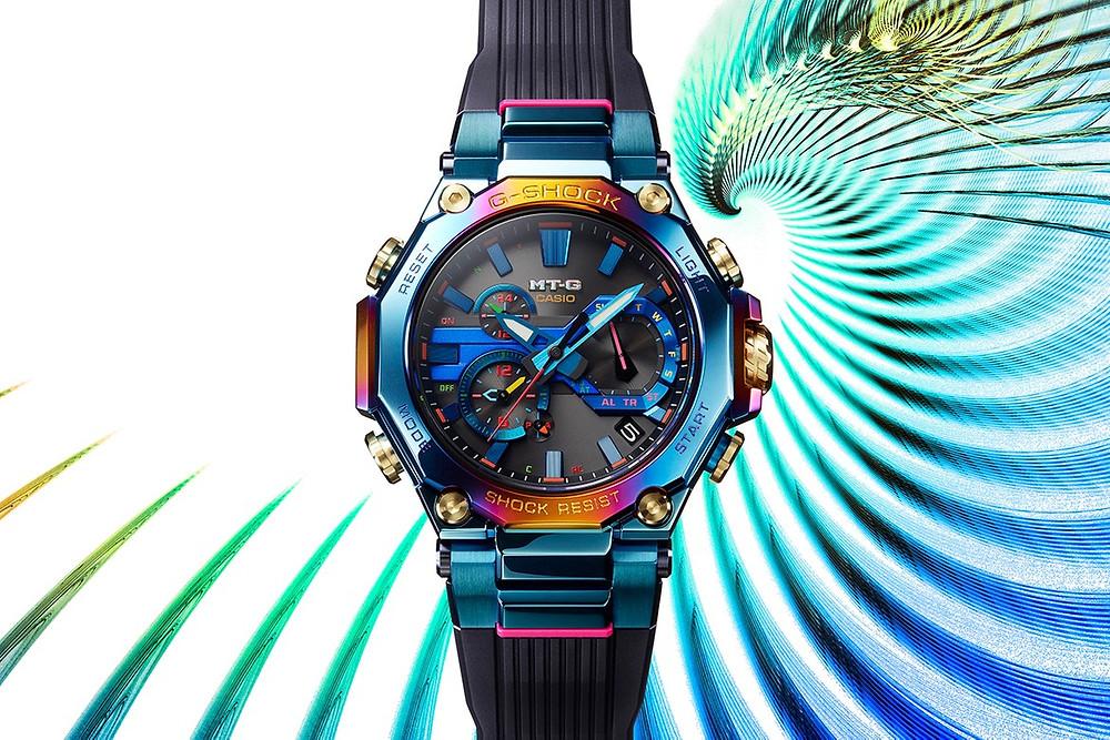 reloj alta gama MT-G ion plated multicolor referencia MTG-B2000PH-2AER