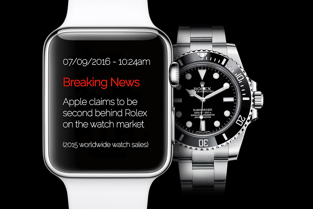Analisis del mercado relojes suizos y Apple watch