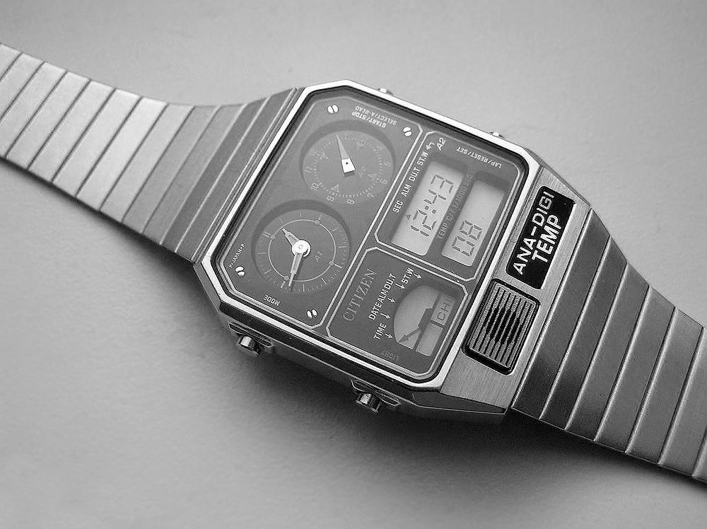 reloj citizen ana-digi vintage lcd modelo 8982-085019 TA
