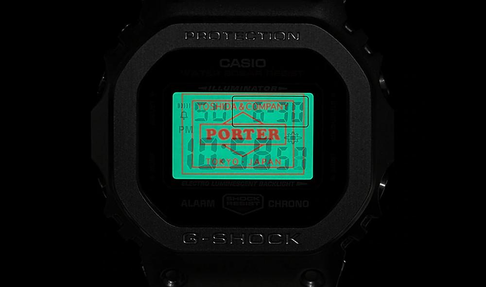 detalle pantalla lcd g-shock x porter 85th modelo GM-5600EY-1D
