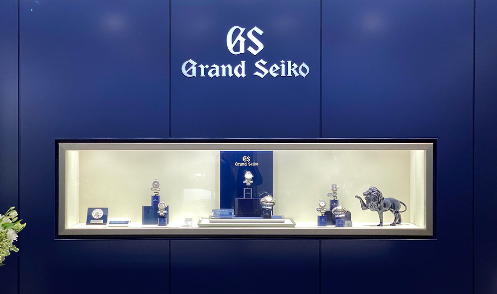 Detalle zona de relojes Grand Seiko tienda nueva Madrid