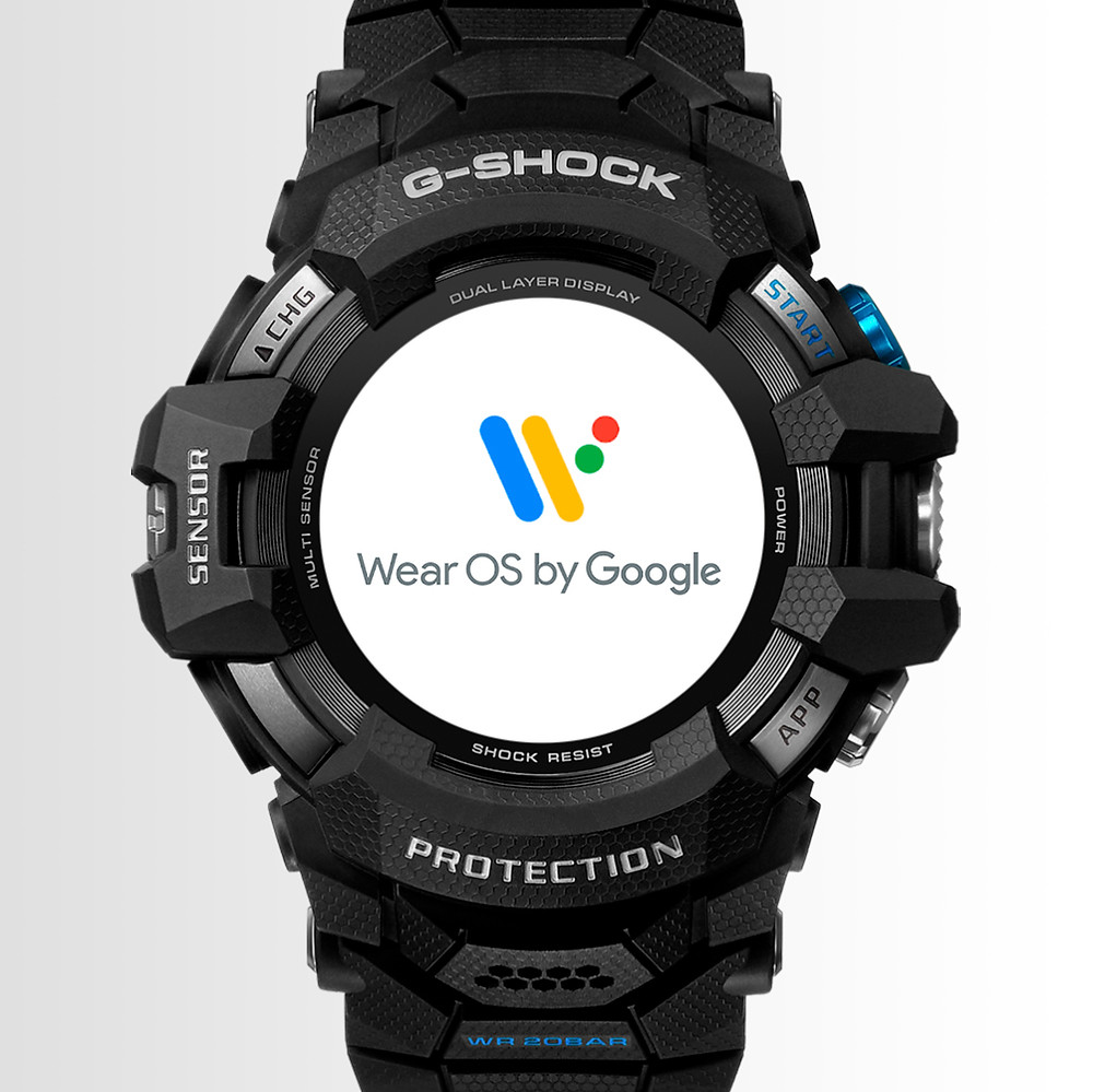 GSW-H1000 G-Shock x Wear OS by google primero de la historia casio g-shock