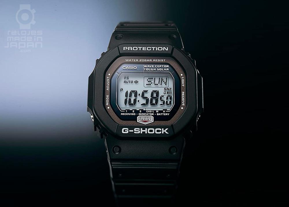 primer reloj casio g-shock squared de la historia con tecnologia solar y radiofrecuencia gw-5600j de 2005
