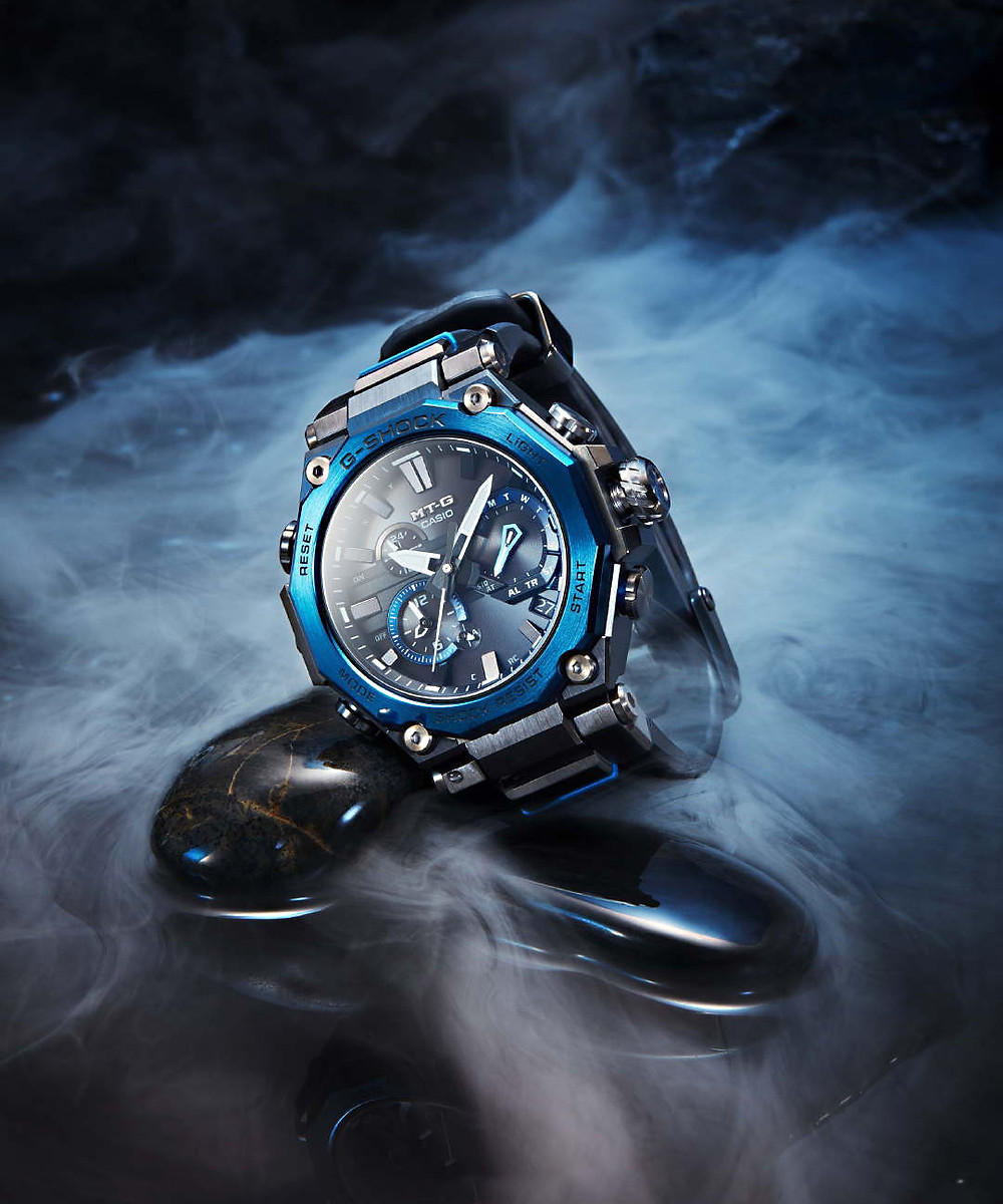 reloj casio G-shock novedad 2020 modelo MTG-B2000B-1A2ER solar, conectado bluetooth y multiband 6, cristal zafiro
