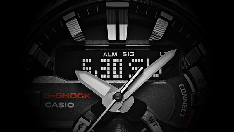Detalle pantalla de funciones STN del reloj GST-B200 presentado baselworld 2019