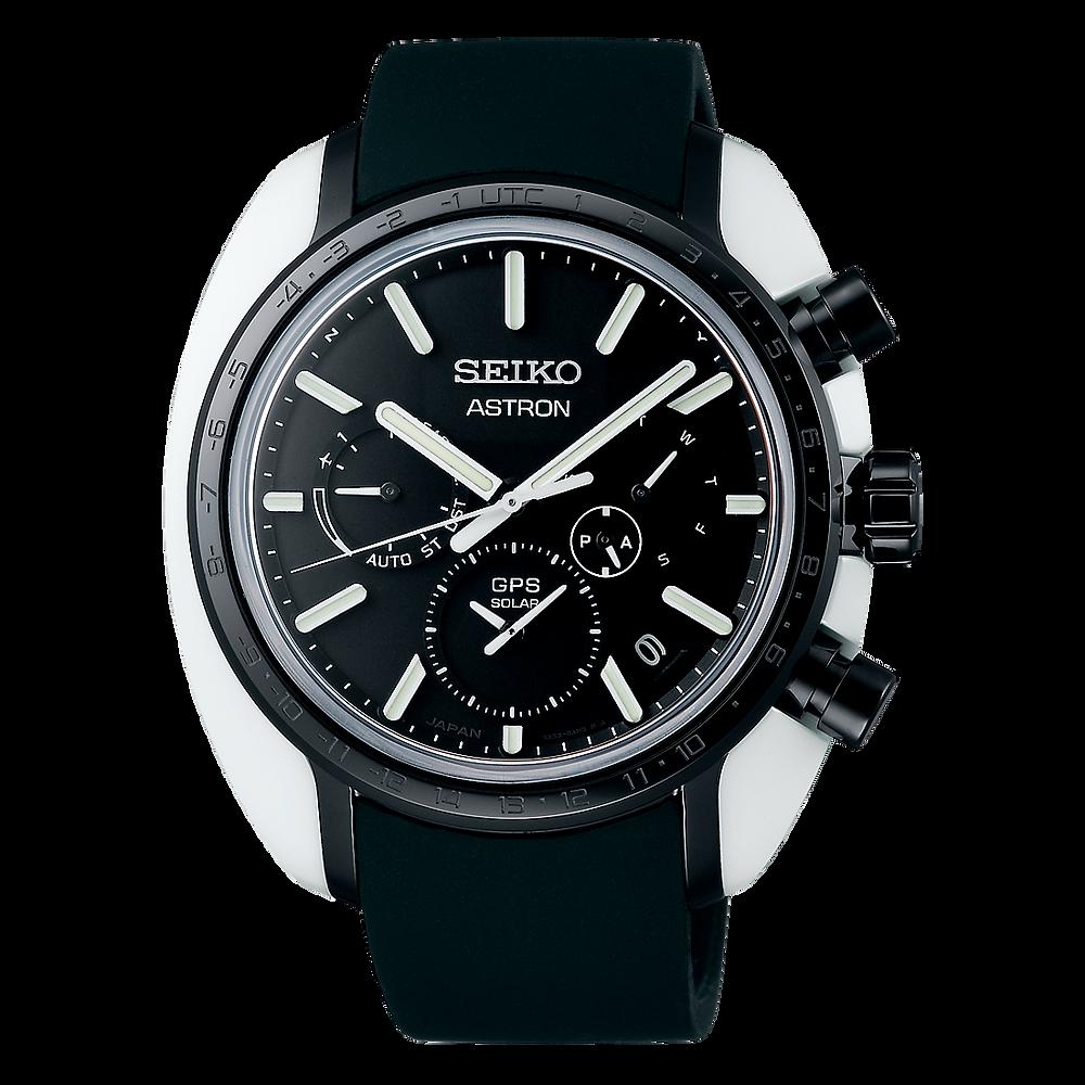 Reloj seiko Astron de ceramica y titanio dlc en alto brillo SBXC075