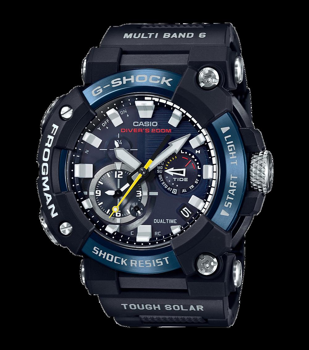 nuevo reloj frogman analogico edicion 2021 con bisel azul diver's de G-Shock modelo GWF-A1000C-1AJF