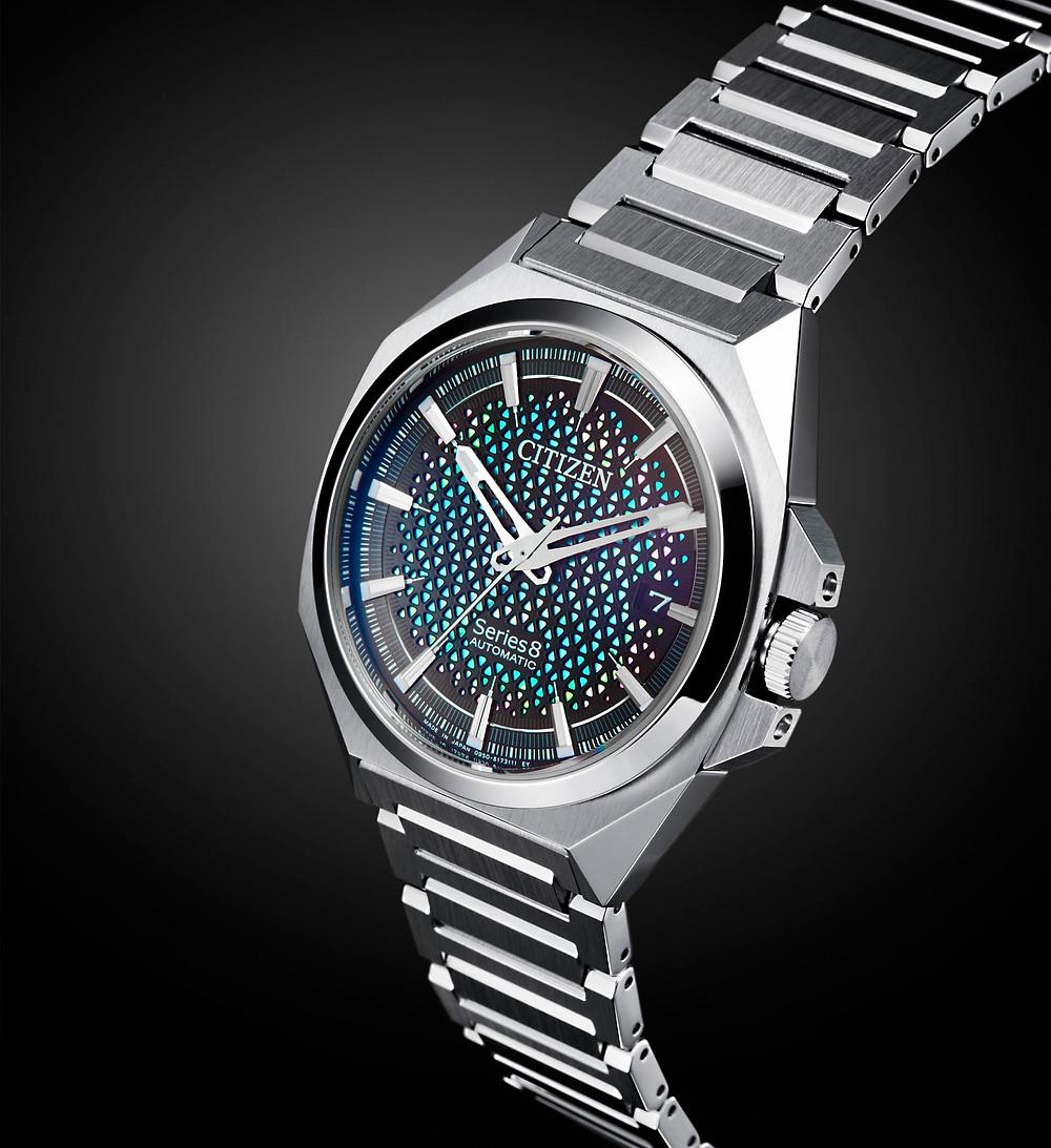 NA1010-84X detalle reloj caja y pulsera 'series 8' de citizen watch 2021