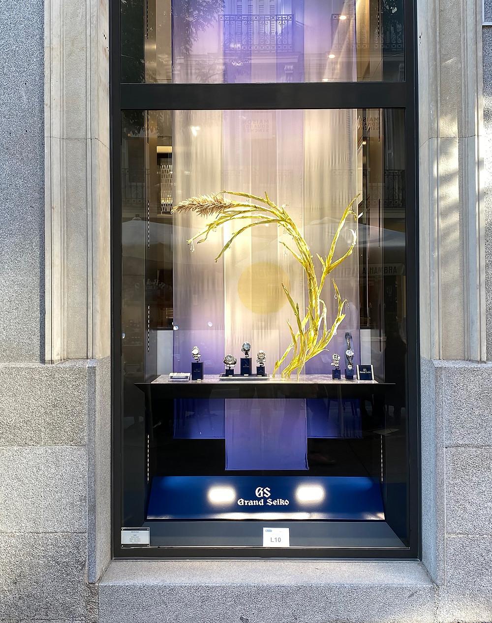 Escaparate principal nueva Seiko Boutique de Madrid