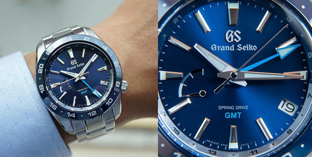 detalle-reloj-grand-seiko-gmt-ceramico-azul-SBGE255G