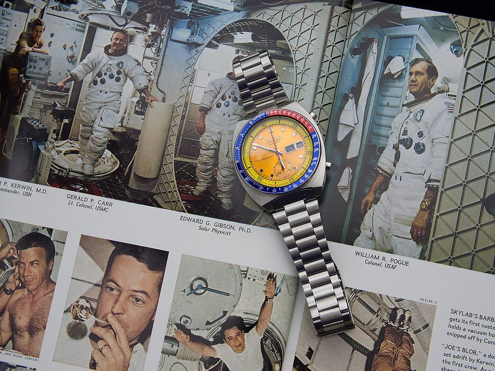 Seiko 6139-6002 usado en mision espacial astronauta coronel Pogue