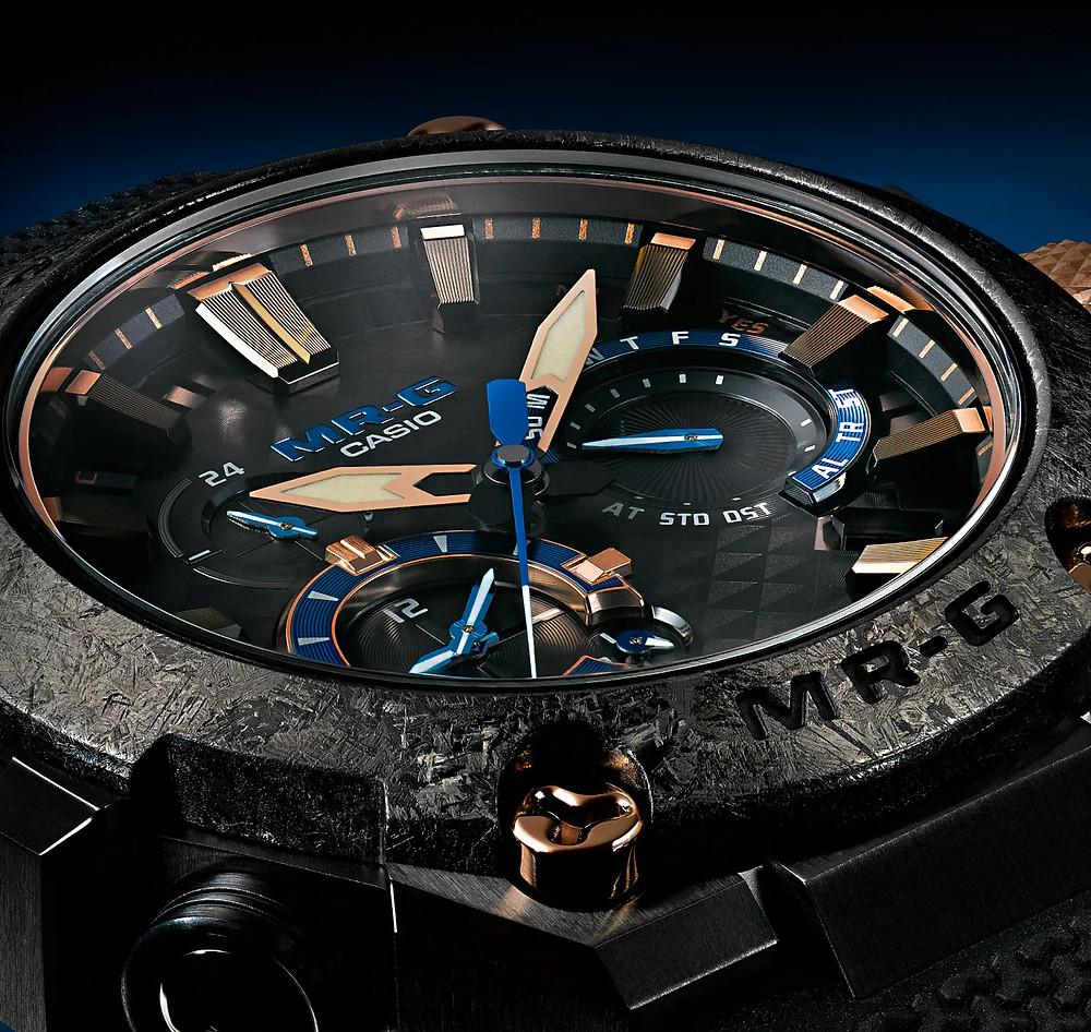 detalle esfera 3d reloj de lujo mrg ref mrg-b2000r-1adr