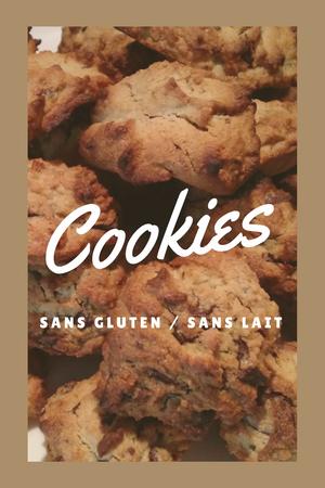Recette de cookies (sans gluten et sans lait)