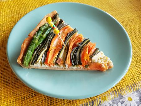Tarte spirale de courgettes et carottes