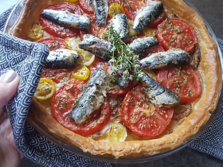 Tarte fine tomates-sardines