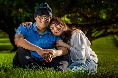 Outdoor portrait of Subho and Shumi