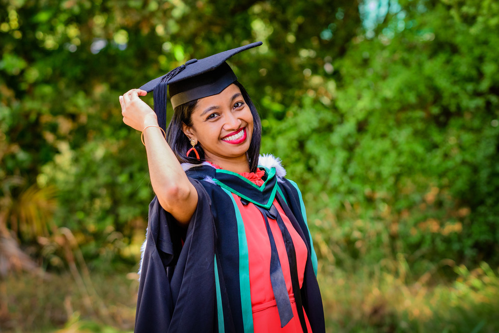 Graduation photo portrait of Farnaaz