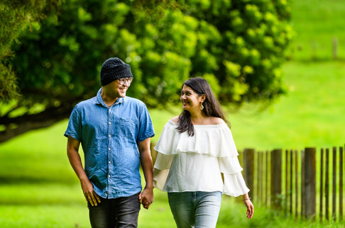 Subho and Shumi outdoor portrait