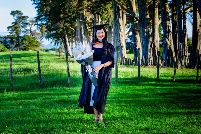 Graduation photo Rimli at Totara