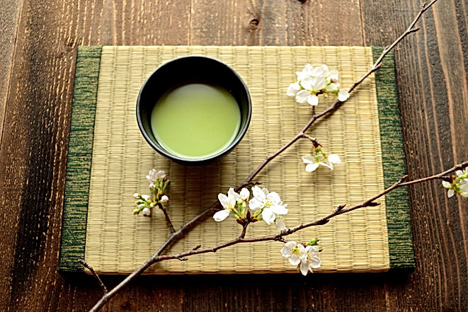 Cherry blossoms and green tea on the Jap