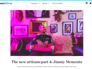The new artisans part 4: Jimmy Memento