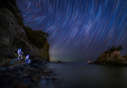 Light painting with startrail