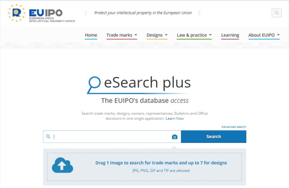 Databáze eSearch plus EUIPO