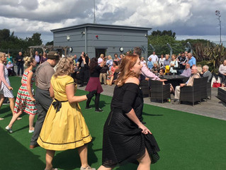 Hawthorns rooftop swing dance