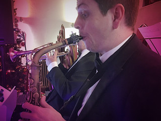 Kal's Kats vintage swing band - Great Gatsby party for Paddy's Mummy :-)