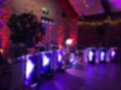 The Kalamazoo dance Band Wedding band set up