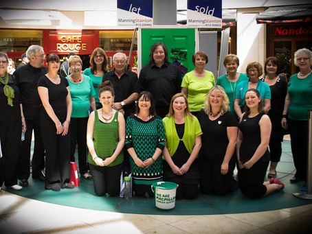 Painting Leeds Green for Macmillan Cancer Suport