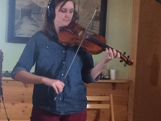 Laura, Grace and Lindsey's Fiddle CD project with Ben Winship at Hen House Recording in Victor,