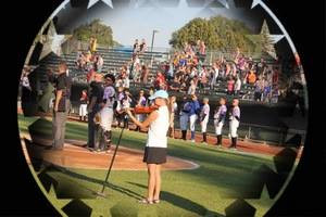 Jacie Sites Performs the National Anthem for the Idaho Falls Chuckars baseball team