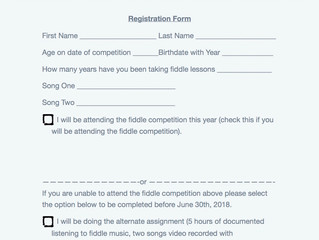 Swan Valley Fiddle Contest 2018 Entry Form