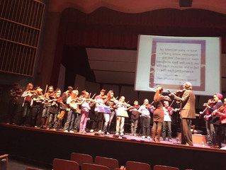Student Workshop with Mark and Maggie O'Connor complements of the Idaho Falls Symphony.