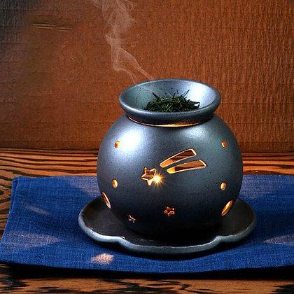 常滑燒茶香爐 - D