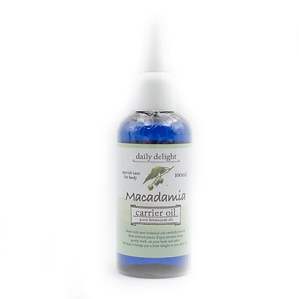 Macadamia nuts carrier oil
