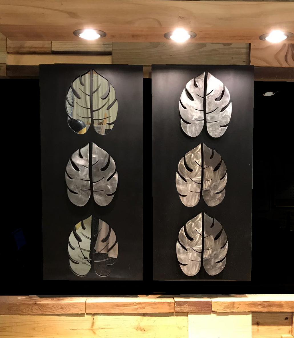 16 Mirror Leaves Art -1
