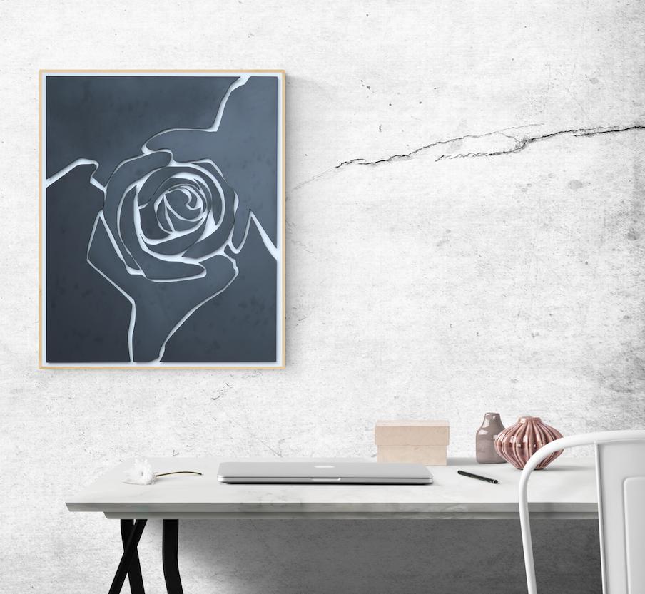12 Metal Rose