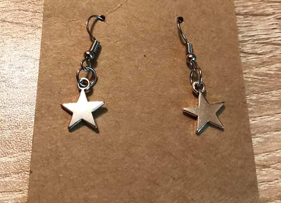 One Star  Hand-Made Earrings