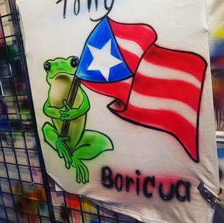 PuertoRican Flag and Coqui