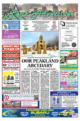 Peak Advertiser, Bakewell, Peak District, 4.7.16 Edition Front Cover