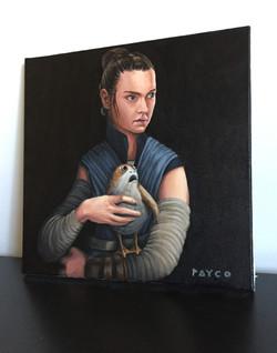 Rey with Porg