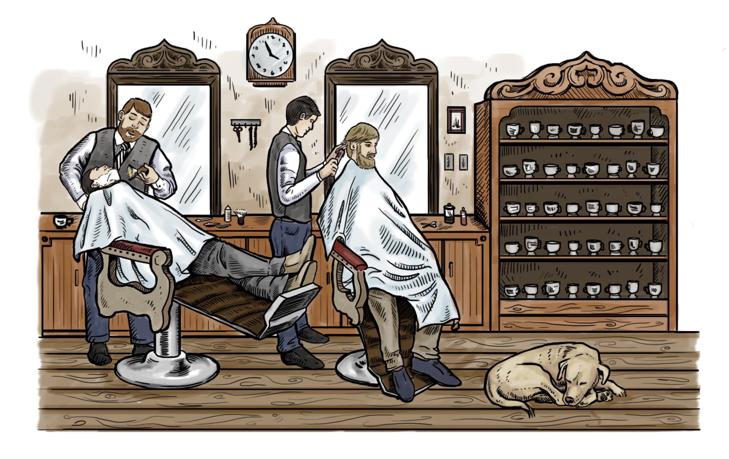 Shaving Mug Illustration - Digital