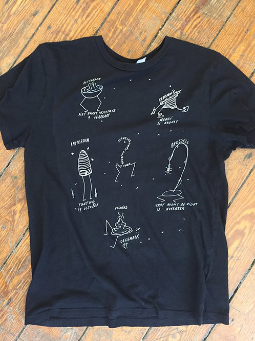 BERGUR THOMAS ANDERSON & ASH KILMARTIN, Stonecarver's Dilemma tour shirt