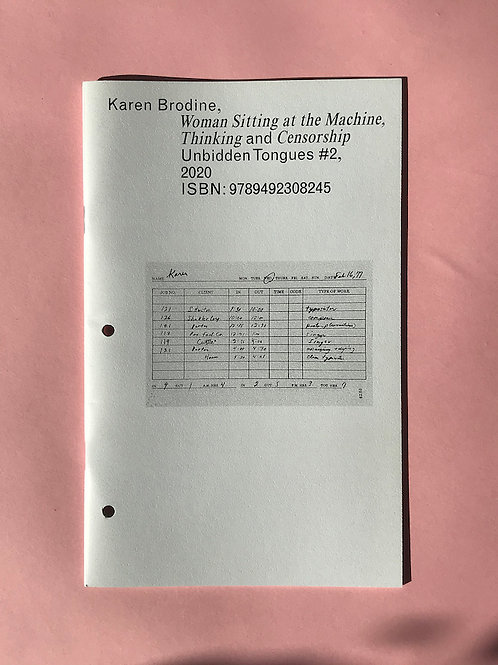 Karen Brodine: Woman Sitting at the Machine... (ed. Isabelle Sully) (2020)