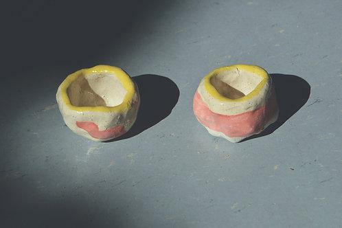 VLADA PREDELINA, Five-Nine ceramic pair of candle holders (2019)