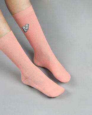 Pink Dominos Socks