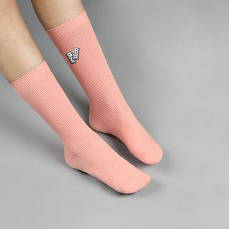Rose Dominos Chaussettes